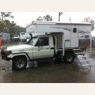 Trackmaster 7 slide-on camper mounted on a Landcruiser ute